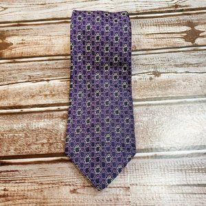 """Authentic Versace 59"""" Purple Penguins Neck Tie"""